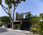 House with green wall ideas minimalist exterior design home in ...