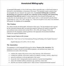 Sample MLA Annotated Bibliography