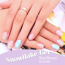 online shop candy lover 3d snowflake gel nail polish 24 fashion