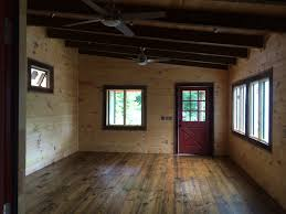 Tiny Cabin Tiny Cabin Construction Heart Of Pine Floor Old Masters Stain In