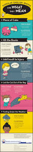 popular english idioms and what they mean infographic visualistan