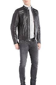 men s moto jacket new mens diesel l neilor black leather moto jacket u2013 buck u0026 zinkos