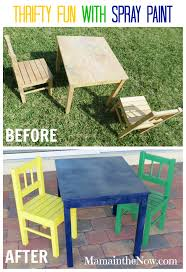 Spray Painting Metal Patio Furniture - diy fun with the 8th wonder spray paint ikea table and chairs