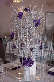 Silver Centerpieces For Table Best 25 Purple Silver Wedding Ideas On Pinterest Purple And