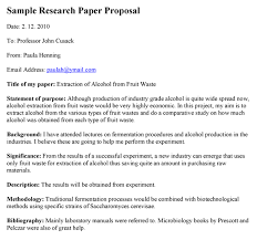 Sample Research Proposal Paper Format Home