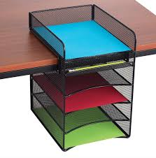 Desk Organization Accessories by Amazon Com Safco Products 3256bl Onyx Mesh Desktop Organizer