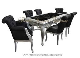 black and silver dining room set designs