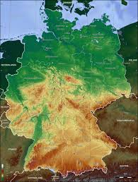 Map Germany by Germany Topo Map U2022 Mapsof Net