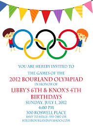 Birthday Invitation Cards For Kids Diy Free Printable Invite Olympics Party Desserts Parties
