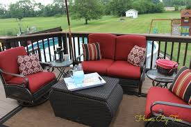 Patio Furniture Lowes Canada - home by ten patio conversation set and outdoor rug home depot