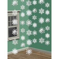 amscan 2 1 m snowflake string decoration amazon co uk kitchen u0026 home