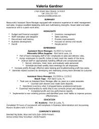 Sample Of Sales Manager Resume by Unforgettable Assistant Store Manager Resume Examples To Stand Out