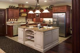 decoration ideas elegant brown wooden kitchen island and brown