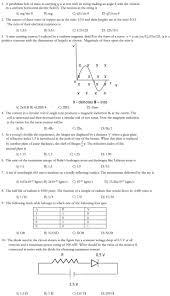 VITEEE      Sample Question Paper   Physics AglaSem Admission VITEEE      Sample Question Paper   Physics