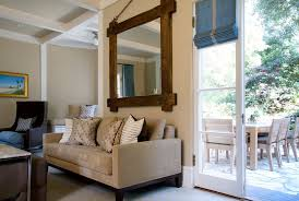 Make More Space With Large Decorative Mirrors  Unique Hardscape - Living room mirrors decoration