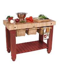 Kitchen Island With Chopping Block Top Amazon Com American Heritage Kitchen Island With Butcher Block