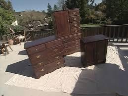 Black Bedroom Set With Armoire How To Lighten Dark Bedroom Furniture With Paint How Tos Diy