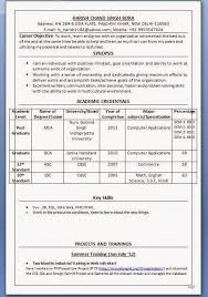 Resume Format Download For Freshers   Samples Of Resumes Resume Format