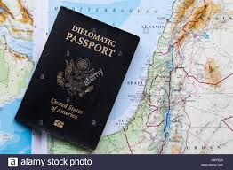 A Map Of America by Diplomatic Passport Of The United States Of America On A Map Of