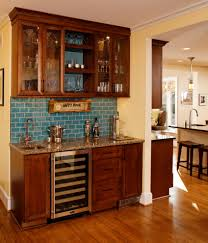 marvelous mini kegerator in kitchen eclectic with basement wet bar
