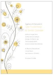 Free E Card Invitations Wildflower Wedding Invitation