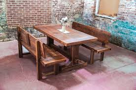 dining table and benches dining