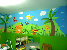 22 best daycare pediatrician wall murals and graphics images on daycare jungle mural complete wall 4