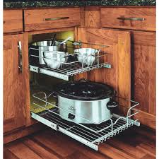 kitchen cabinet shelf organizers rev a shelf pull out drawer