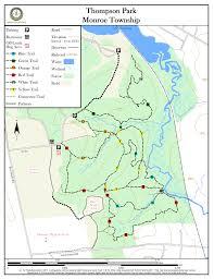 Map Nj Thompson Park New Jersey Trails Association