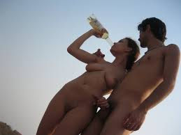 Nudism erection