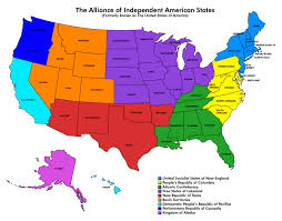 Usa States And Capitals Map by The Alliance Of Independent American States Tears In Rain