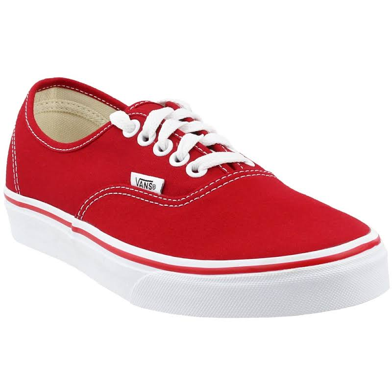 Vans Authentic Skate Shoes Red- Mens