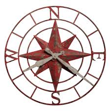 625 633 compass rose wall clock by howard miller