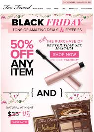 black friday freebies 2017 too faced black friday 2017 sale u0026 cosmetics deals blacker friday