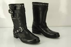 high heel motorcycle boots stuart weitzman boots stuart weitzman trotter black studded