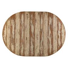 Round Wooden Table Top View Farmhouse Dining Rustic Traditions Hayneedle