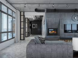 Loft Designs by Industrial Loft Apartment Design Ideas With Elegant Dark Shades