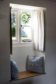 bathroom window curtains ideas hypnofitmaui com cottage window seat so cute love the dormer rod curtains