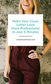 What To Put In A Cover Letter For A Cv 25 Best Cover Letter Design Ideas On Pinterest Professional
