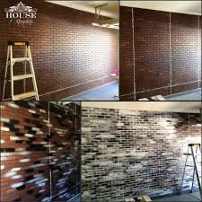 brick contemporary eclectic faux brick panels faux finish