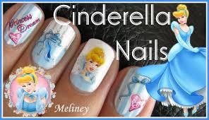 cinderella nails disney princess cartoon nail art design sticker