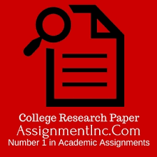 College Research Paper Assignment Help and Homework Help