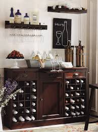sideboards stunning buffet table with wine storage buffet table