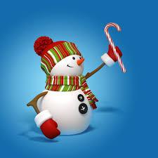 snowman 3d cute christmas new year snowman hd wallpaper