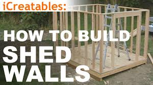How To Build A Storage Shed Plans Free by How To Build A Shed Part 5 Wall Framing Youtube