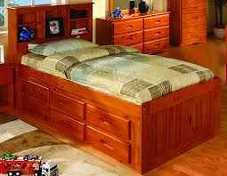 Bedroom Furniture Espresso Finish Bed U0026 Bedding Using Mesmerizing Twin Captains Bed For Captivating