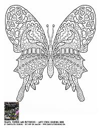 coloring pages plicated butterfly coloring pages difficult
