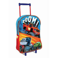 fisher price blaze u0026 monster machines trolley bag