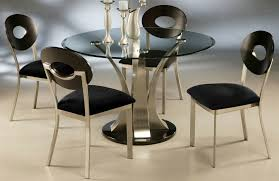 Round Wooden Table Top View Unusual Idea Modern Black Round Dining Table Sets View In Gallery