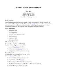 graduate teaching assistant resume Graduate Teacher Resume Example    Graduate Teacher Resume Example
